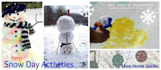 snow day, activities, kids