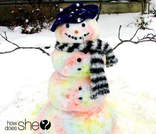 food coloring, dye, snowman