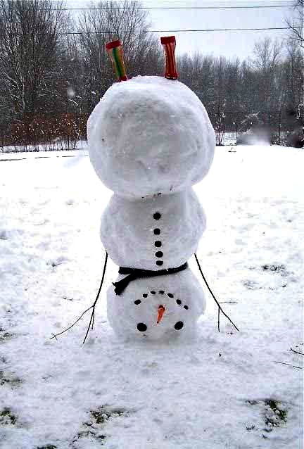 upside down, snowman, how to