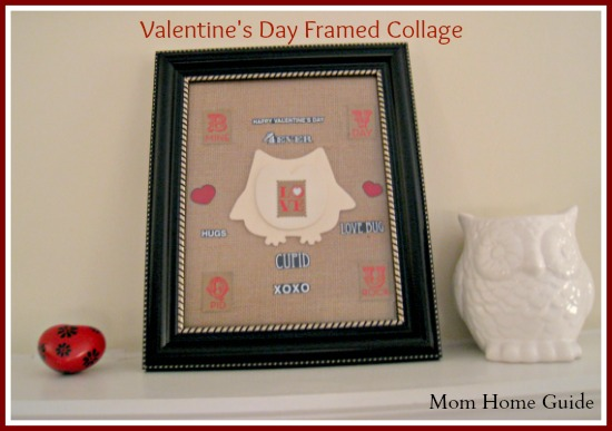 frame, collage, burlap, owl, valentine's day
