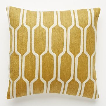 honey comb, pillow, west elm