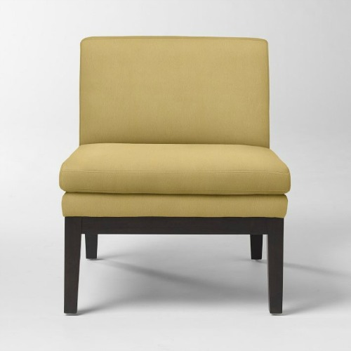 yellow, west elm, slipper, chair