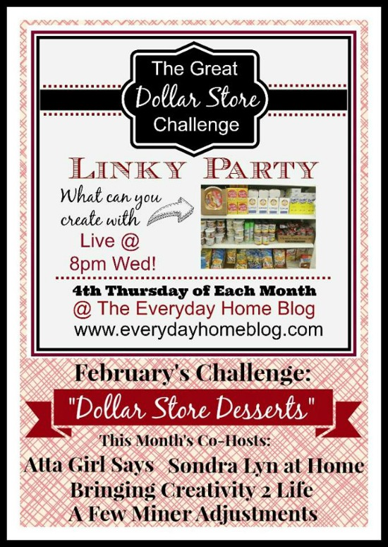 dollar store challenge, dessert, recipe, linky