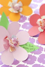 lollipop valentine card, flower