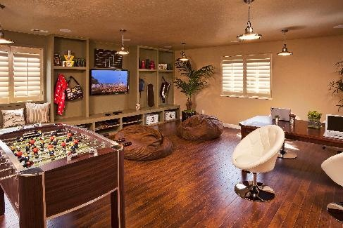 game room, foosball, bean bag chair