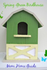 craft, paint, green, bird, house