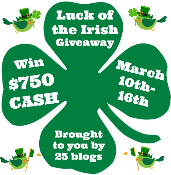 $750, cash giveaway, luck of the Irish