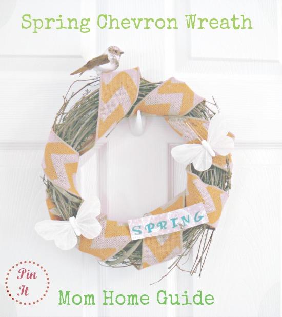 spring, chevron, burlap, bird, wreath, butterfly