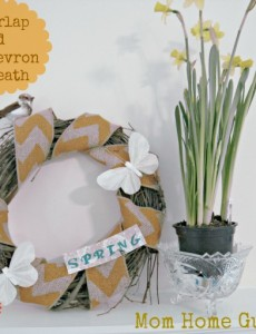 spring, grapevine, wreath, burlap, chevron, bird, butterfly
