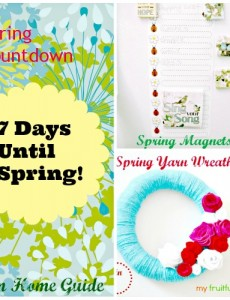 Countdown Until Spring & Craft Magnets