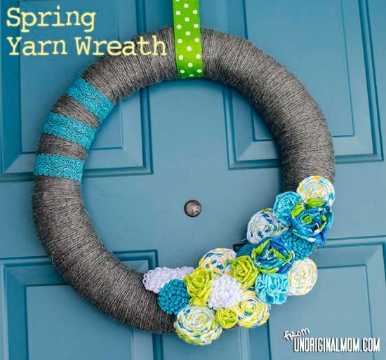 spring, yarn, wreath