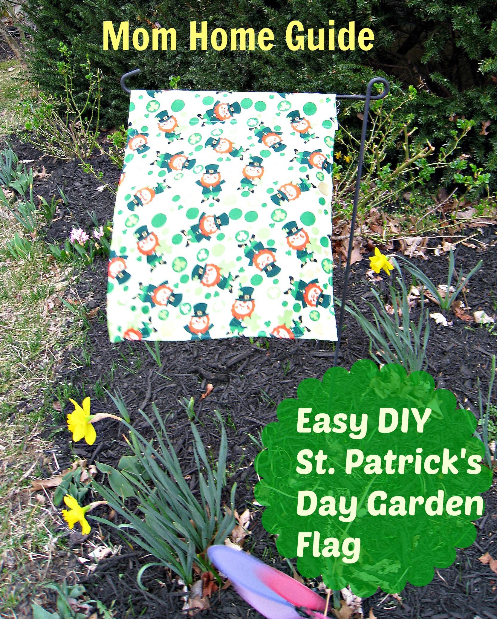 DIY Garden Flag for St. Patrick\'s Day