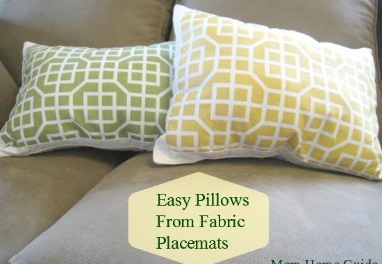 DIY Simple Placemat Pillows