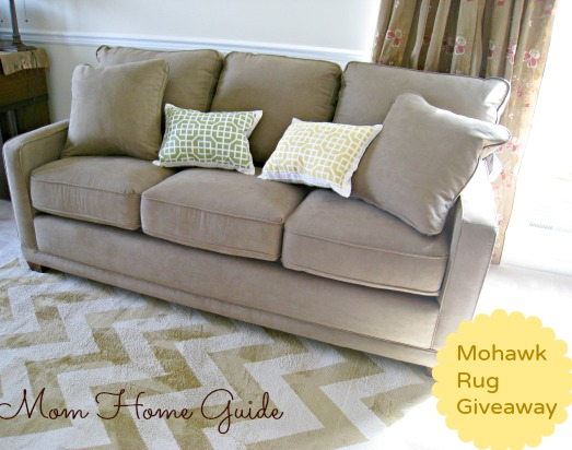 mohawk, rug, giveaway, mom home guide, kennedy sofa, lazy boy