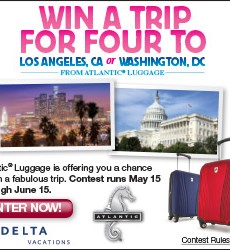 Atlantic Luggage: Win a Family Trip