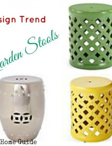 garden, stool, design, decor, trend