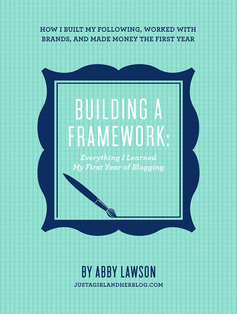 building a framework, just a girl and her blog