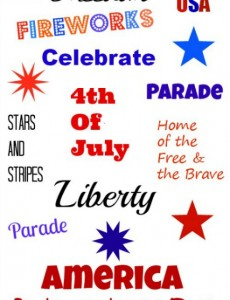 free, fourth of july, printable