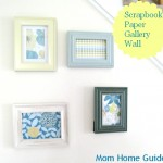 Scrapbook Paper Art Gallery Wall
