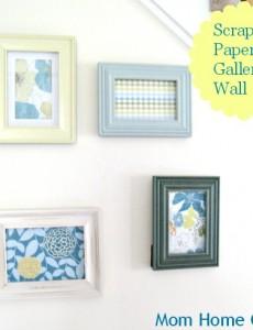 Scrapbook Paper Art Gallery Wall