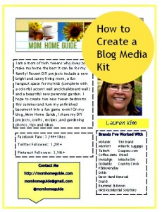 How to Make a Blog Media Kit