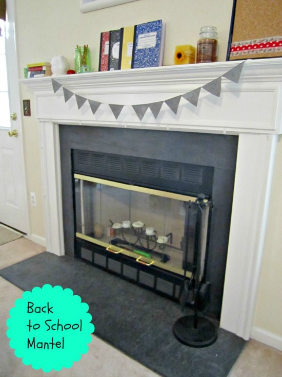 september, back to school, fall, mantel, decor, ask anna
