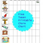 Free Printable Chore Chart for Tweens