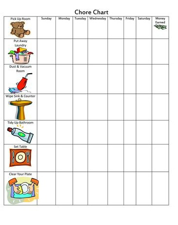 tween, kids, chore, chart, free, printable