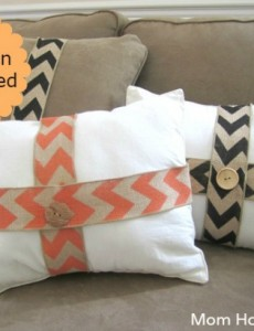 Ask Anna: Burlap Wrapped Fall Pillows