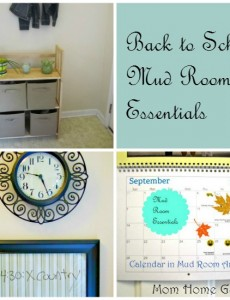 Back to School Mud Room Area