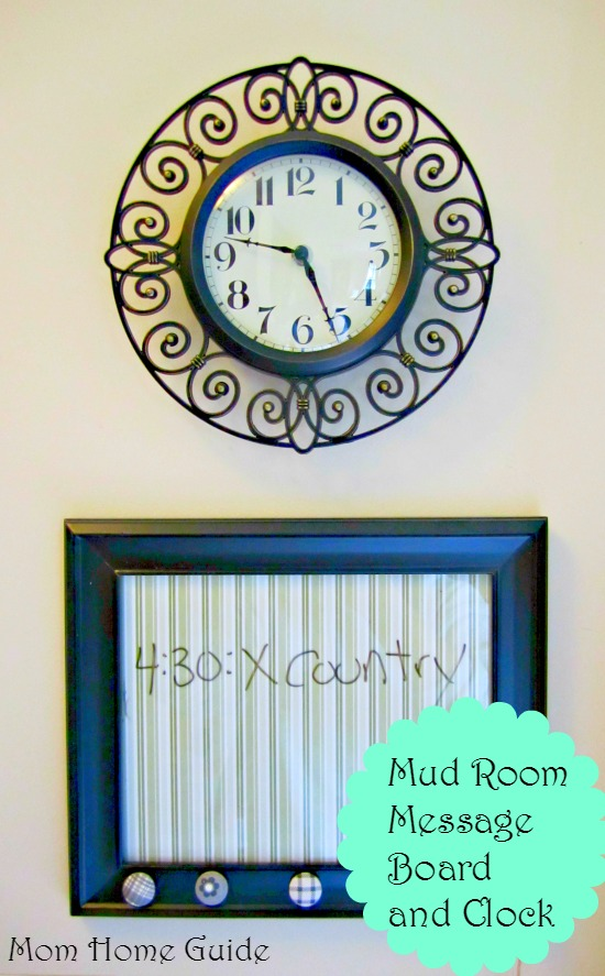 mud, room, clock, message, board, dry, erase