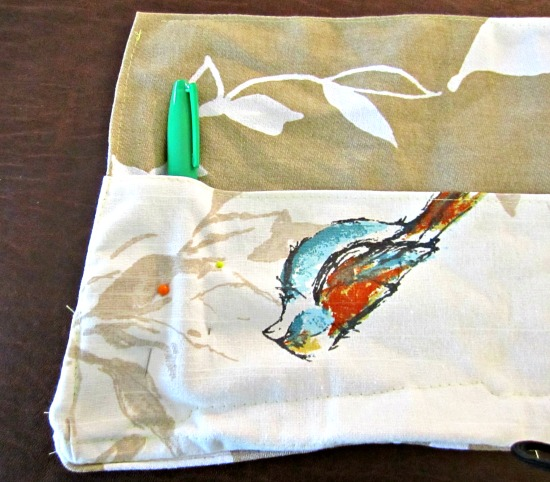sew, fabric, roll, up, pen, marker