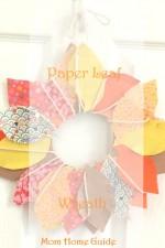 paper leaf fall wreath