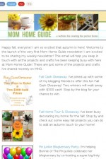 mom home guide weekly email newsletter