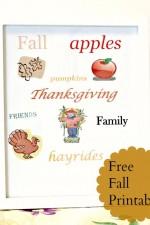 free fall printable, thanksgiving