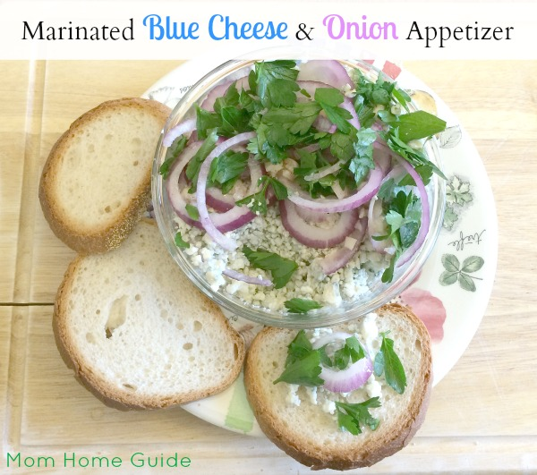 marinated blue cheese and onion appetizer