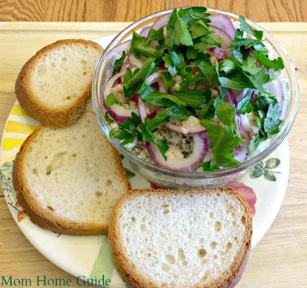 marinated blue cheese and onion spread