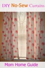 no sew curtain tutorial
