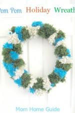 holiday pom pom wreath