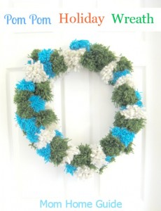 Pom Pom Holiday Wreath
