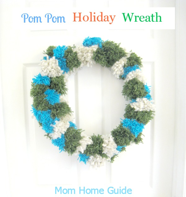 holiday pom pom wreath