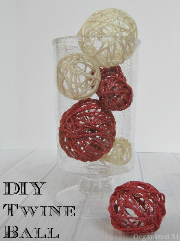DIY twine balls by Organized 31