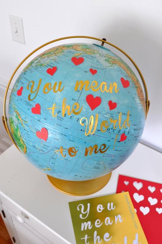 DIY globe valentine