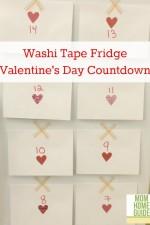 fridge, washi tape, valentines, day, countdown