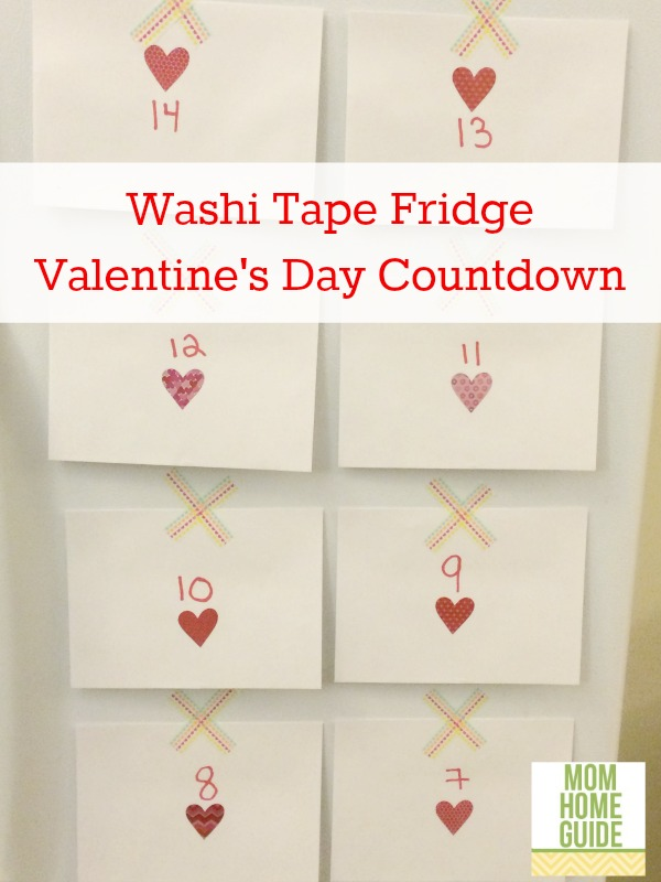 fridge, washi tape, valentines, day, countdown
