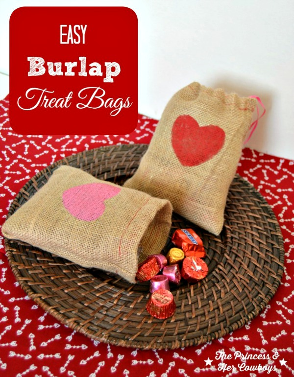 burlap treat bag craft for valentines day