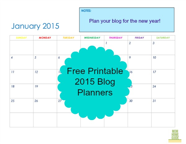 free printable blog planners
