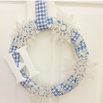 """Frozen"" Inspired Winter Monogram Wreath"