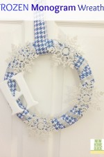 frozen winter monogram wreath