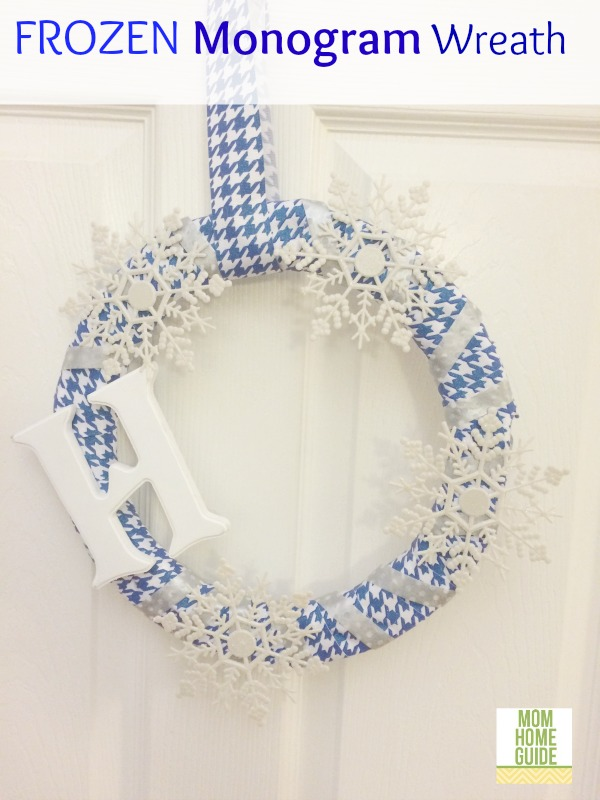 frozen winter monogram wreath